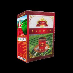 چای بسته بندی شده البویا از نمای نیمرخ،محصول گروه مواد غذایی تکسان