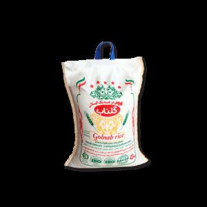 برنج 10 کیلویی فجر درجه یک گلناب،محصول شرکت گلناب